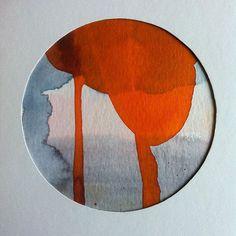 #lonehartmann #watercolor #circle #mixedmedia #akvarel #art