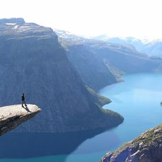 Trolltunga Fjord in Norway. I will go back to Norway and explore so much more. Oh The Places You'll Go, Places To Travel, Travel Destinations, Places To Visit, Travel Things, Travel Stuff, Top Of The World, Wonders Of The World, Lofoten