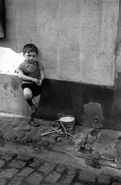 photos by Fred Stein: Boy Leaning Against the Wall, Paris, 1937