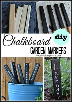 Easy DIY garden markers that you can make at home in a few minutes and a few dollars.