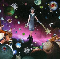 she was once the queen of stars by collage-a-dada (analog collages by shawn marie hardy)