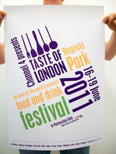 Taste of London - Tickets, logos, posters, flyers, etc by laura Heanan, via Behance