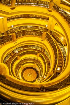 Emirates Palace Hotel, Abu Dhabi by Michael Bleyzer. Grand Staircase, Staircase Design, Beautiful Architecture, Architecture Details, Beautiful Stairs, Take The Stairs, Stair Steps, Palace Hotel, Abu Dhabi