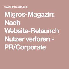 Migros-Magazin: Nach Website-Relaunch Nutzer verloren - PR/Corporate Corporate, Communication, Website, Psychics, Communication Illustrations