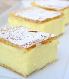 Vanilla Slice : like a vanilla custard pie bar, delicious - and so simple!