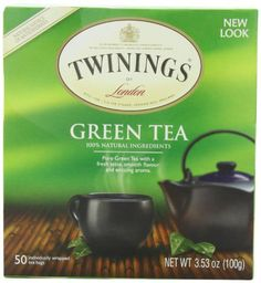 Twinings Green Tea, 50-Count Teabags  (Pack of 6) - http://teacoffeestore.com/twinings-green-tea-50-count-teabags-pack-of-6-2/