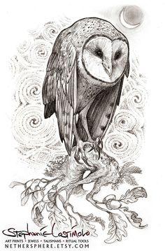 'Druid's Owl' by Stephanie Lostimolo