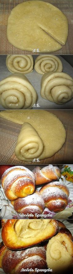 Try with any dough and fun fillings like cinnamon sugar, pecans etc. Bread Recipes, Cooking Recipes, Cooking Cake, Bread Shaping, Cuisine Diverse, Good Food, Yummy Food, Bread And Pastries, Danish Pastries
