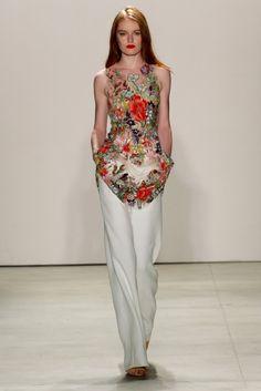 Jenny Packham S/S '16 New York Fashion, World Of Fashion, Runway Fashion, High Fashion, Fashion Show, Fashion 2016, Fashion Art, Jenny Packham, Women's Fashion Dresses
