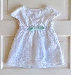 Baby girl dress-summer dress size 6-12 month dress white