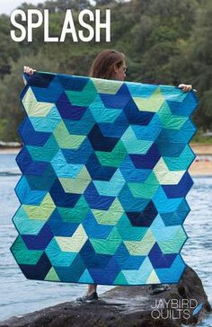 Break into a favorite fat quarter bundle and make a splash! This quilt flows together easily with no Y seams! Finished quilts measure: Baby 40 inches by 44 inches Lap (cover image) 49 inches by 68 inc