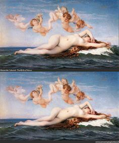 """""""Italian artist Anna Utopia Giordano gives the goddess of love a Photoshop makeover. She takes famous paintings of Venus and slims bellies (and increases busts) to fit today's standards of beauty."""""""
