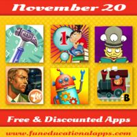 TOP FREE APPS for KIDS with an app to learn about argumentation; A great app to introduce your kids to philosophy; A cool new app for storytelling; A hidden object game app for the older ones; Top Price Drops and a lot more! Have fun with apps!  #kidsapps   #freeapps   #edapps   #iPAded   #appdeals      http://www.funeducationalapps.com/2014/11/best-free-and-discounted-apps-for-kids-november-20.html