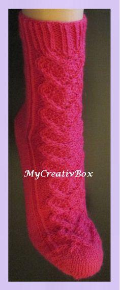 """Socken """"Herz an Herz"""" für Gr. 32-47, Anleitung von MyCreativBox, gestrickt mit Sockenwolle 4-fach"""