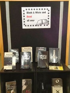 Black & White and Read all over - Library Displays