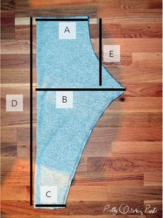 DIY wide tapered leg pant - Pretty Quirky Pants