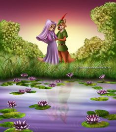 Robin and Marian in Sherwood Forest