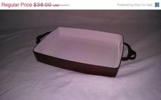 Everythings On Sale Vintage Brown & White Dansk Kobenstyle Casserole Baking Pan Free Shipping