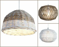 Beautifully Simple Wicker Pendant Lights Available At Chantelle Lighting ...http://