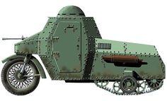 an armoured motorcycle by Russian design engineer Kareev Barinov 1942.