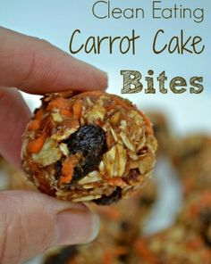 These healthy Carrot Cake Bites are a yummy treat you will definitely have to try. Simple ingredients for a perfect snack.