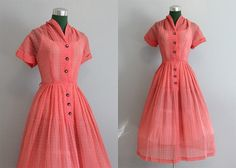 Lovely I remember my Mom wearing dresses like this with her tiny waist. Oh So Lovely Vintage