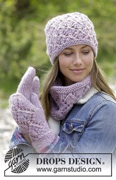 Women - Free knitting patterns and crochet patterns by DROPS Design Lace Patterns, Knitting Patterns Free, Free Knitting, Crochet Patterns, Free Pattern, Drops Design, Mittens Pattern, Knit Mittens, Knitted Hats