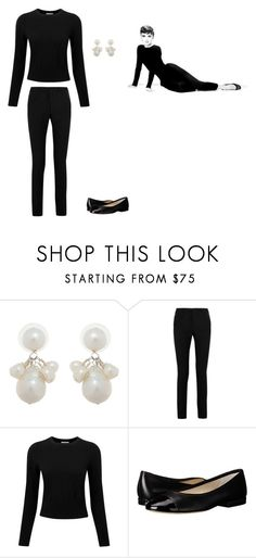 """""""Audrey Hepburn inspired"""" by zfunch ❤ liked on Polyvore featuring Meg Carter Designs, Yves Saint Laurent, Pure Collection and MICHAEL Michael Kors"""
