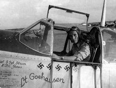 P-51B Mustang pilot 1lt Walter Goehausen of the 308th FS 31st Fighter Group