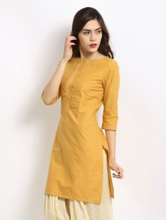 Buy W Women Mustard Yellow Kurta - 13AU13807-20224-171422 - Apparel for Women via @Myntra.com