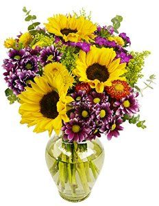 #flowerdelivery  Flowering Fields Bouquet, With Vase by Benchmark Bouquets - See more at: http://foodiegiftsnow.com/grocery-gourmet-food/fresh-flowers-live-indoor-plants/flowering-fields-bouquet-with-vase-com/#sthash.bUkN4GcZ.dpuf
