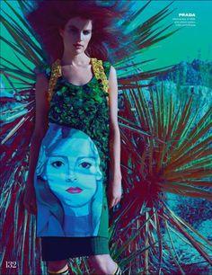 Aquarius - M: Cameron Russell, P: Kai Z Feng (Elle UK February 2014) - http://simplysunsigns.com/
