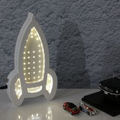 Ahşap Çocuk Odası Lambası - Roket #ahşap #lamba #dekorasyon #çocukodası #aydınlatma #dekoratif