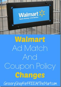 Walmart Has Changed Their Price Match Policies. Here's What You Need to Know!
