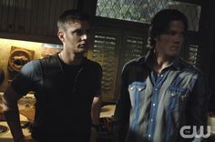 """""""Are You There God?  It's Me, Dean Winchester""""  - Jensen Ackles as Dean, Jared Padalecki as Sam in SUPERNATURAL on The CW. Photo: Sergei Bachlakov/The CW �2008 The CW Network, LLC. All Rights Reserved.pn"""