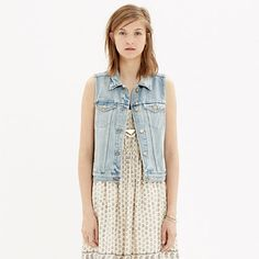 Madewell - The Jean Vest in Clear Blue