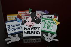 Mickey Mouse Food Labels Candy Buffet Labels by JencardsBoutique