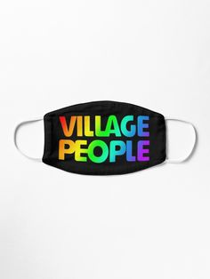 'Gay Pride' Mask by suzhughes Village People, Mask Design, Gay Pride, Snug Fit, Cotton Tote Bags, Personalized Items