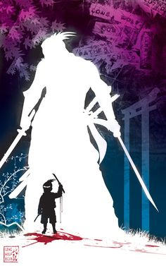 Lone wolf and cub by artist Tom Kelly on the web at  TomKellyART.deviantart.com on @DeviantArt