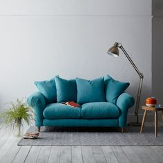 Buy Clever Velvet Real Teal Doodler 3 Seater Large Sofa by Loaf at John Lewis from our Sofas & Sofa Beds range at John Lewis & Partners. Free Delivery on orders over Living Room Sets, Living Room Modern, Living Room Furniture, Sofa Furniture, Vintage Furniture, Modern Furniture, Furniture Design, Small Sofa, Large Sofa