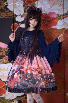 Diamond Honey -Taisho Roman Fantastic Tale- Kimono Style Lolita JSK Version I