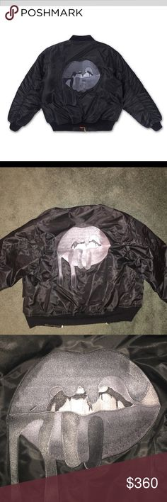 """Kylie Jenner """"lips bomber"""" jacket. Ordered from the kylie shop. Size small. All black. Never worn bomber jacket. the kylie shop Jackets & Coats Puffers"""
