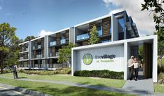 The Village @ Coorparoo, Brisbane - Retirement Village by S3 Architects    Building 3 artist impression - under construction