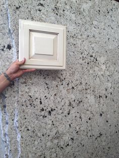 Moon White Granite Gray W Burgundy Pieces In It Trying