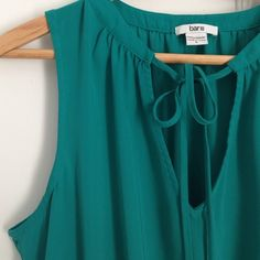 Bar III Dress Teal V-neck Bar III dress with ties. Skirt is lined. Size is large but fits more like a medium.  100% polyester. Bar III Dresses Midi