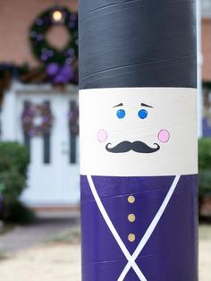Add a playful touch to your front yard this holiday season by transforming concrete tube forms into colorful, larger-than-life nutcrackers.