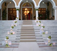Ideas for outside the church Wedding Walkway, Wedding Ceremony, Church Wedding Decorations, Ceremony Decorations, Wedding Stage Design, Wedding Designs, Wedding Isles, Entrance Decor, Church Flowers