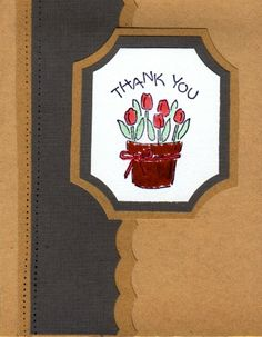 Pot of Flowers by Rush'd Lady - Cards and Paper Crafts at Splitcoaststampers