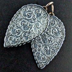 Jadeite silver and rose gold ear pendants. #taffinjewelry #taffin #jamesdegivenchy #jamestaffindegivenchy