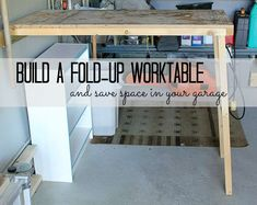 Garage Storage and Organization Ideas. Usually, we skip the garage when it's time to organize, but it's generally one of the most cluttered spaces of our Diy Garage Storage, Garage Organization, Storage Ideas, Organizing Ideas, Cute Diy Projects, Home Projects, Garden Projects, Garden Ideas, Diy Sofa Table